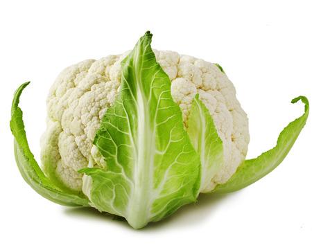 head of cauliflower: Whole Cauliflower isolated on white background