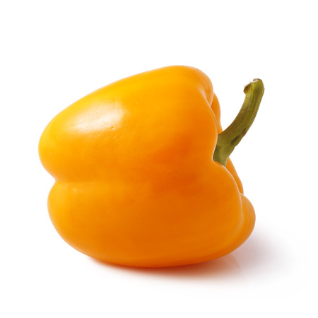 Orange bell pepper isolated on white background Stock Photo