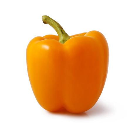 Orange bell pepper isolated on white background