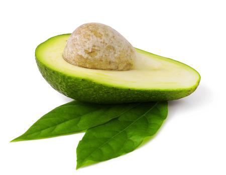 Fresh avocado on white  Stock Photo