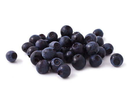 ripe fresh blueberry heap isolated on a white background
