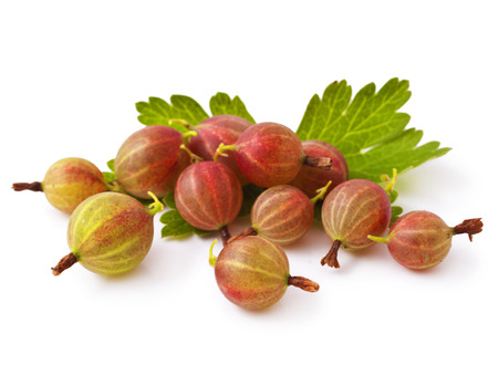 Gooseberries isolated on a white background