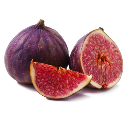 Ripe Figs fruits isolated on white background