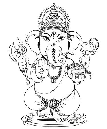 Lord Ganesha of Hindus God
