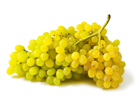 Ripe bunch of grape on white background Sultana Stock Photo