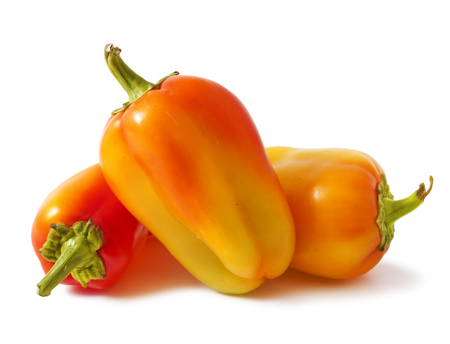 fresh peppers on white background