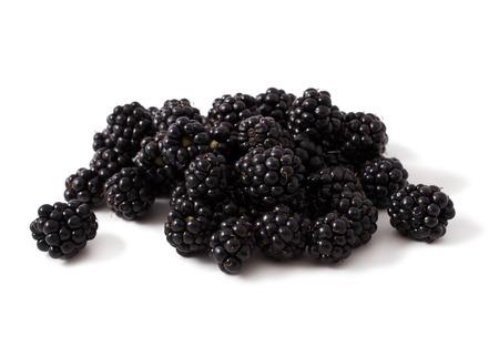 Sweet blackberries isolate on white background