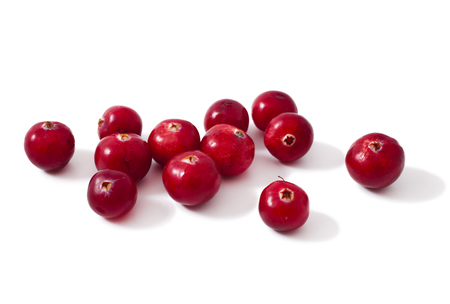 cranberries heap pile isolated on a white background Stock Photo