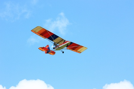 Colorful glider in the sky