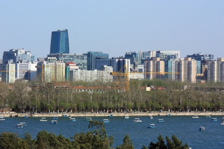 The cityscape of beijing,from Summer Palace.The image was taken at 10th April ,2011. photo