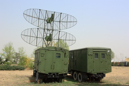 radar gun: The military vehicles with radar in the base