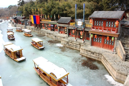 landscape of Summer Palace in winter ,beijing,China. Stock Photo
