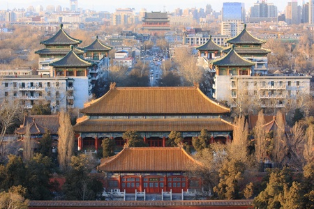 Turret,Forbidden city China 免版税图像