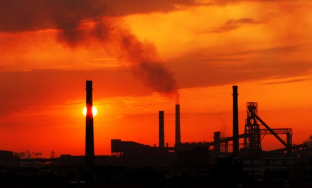 The factory in the sunset