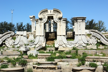 ruins in yuanmignyuan,beijing,China