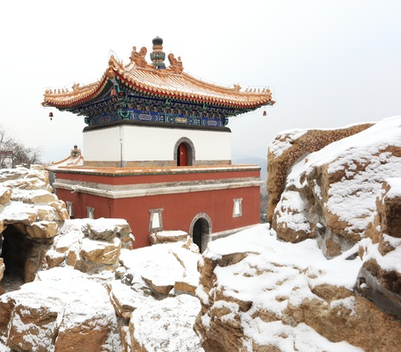landscape of Summer Palace in winter ,beijing,China