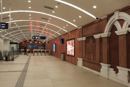 subway station of beijing ,China.