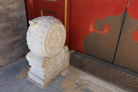 door of Chinese historic building photo
