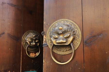 door of Chinese historic building