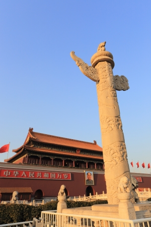 The Tiananmen and  marble pillar of china.