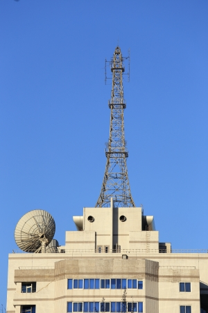 antenna with blue sky at sunny Editorial