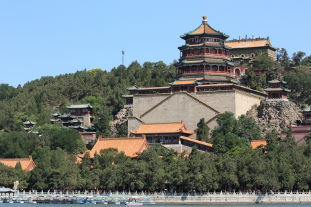 The foxiangge of Summer Palace,beijing ,china  Editorial