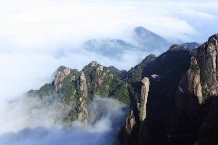 landscape of mountains of china photo