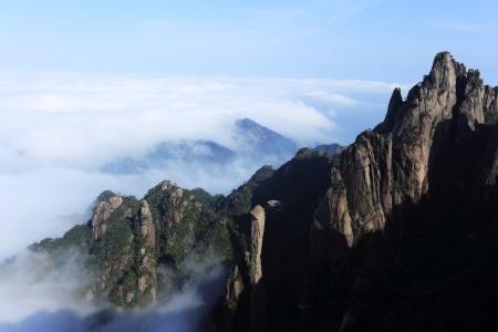landscape of mountains of china Stock Photo