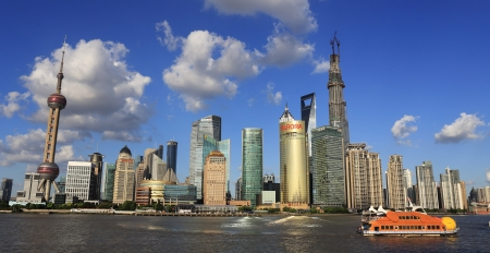 modern cityscape of shanghai china photo