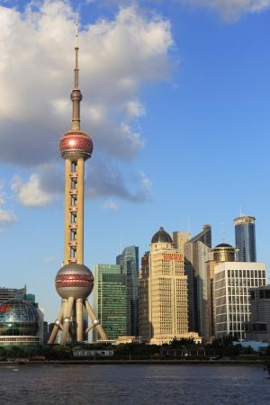 modern cityscape of shanghai china