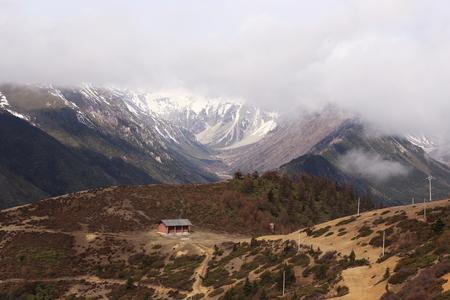 snow mountain in China,Tibet Stock Photo