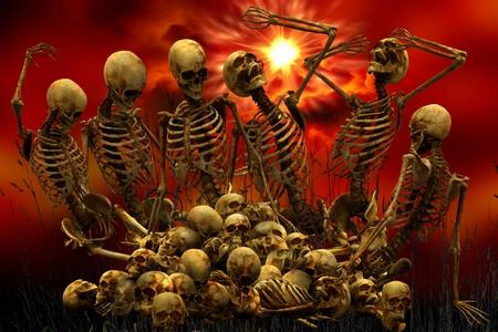 Skeletons Bones Skulls Reklamní fotografie