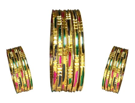 anklet: Bracelets - Three sets of bracelets with the same design but of different sizes