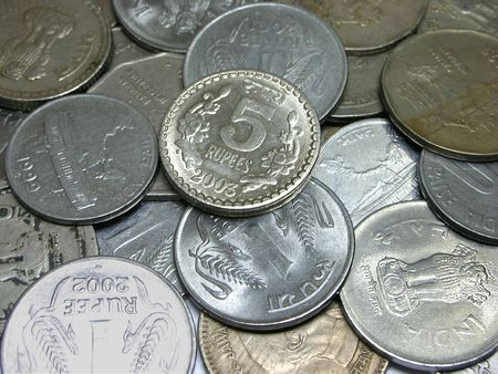 indian money: IndianCurrency - Coins of different denominations