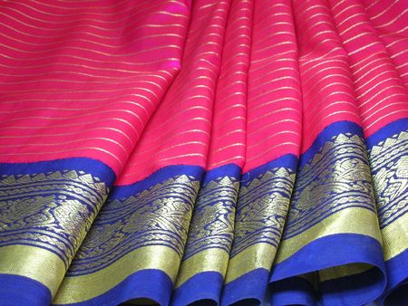 Silk saree with focus on its exquisite border