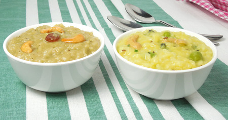 pongal: Sweet and khara pongal, an Indian vegetarian, traditional, popular and healthy sweet and spicy rice dish.