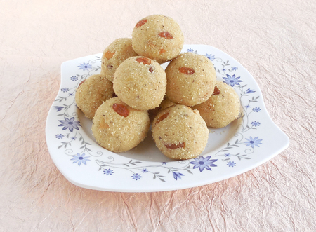 indian sweet: Indian sweet rava laddu made from rava or semolina is a delicious and traditional and popular dish.