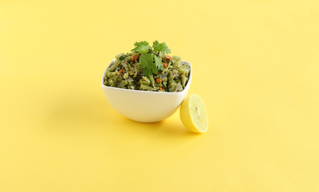 Gavar or cluster bean curry, which is a healthy Indian vegetarian side dish for food like chapati and roti.