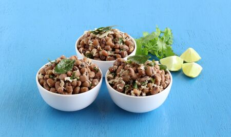 Black eyed beans or cowpea curry, an Indian vegetarian, delicious, and healthy home cooked side dish for food