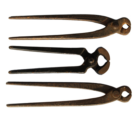 pinchers: Pinchers pliers tools isolated over white