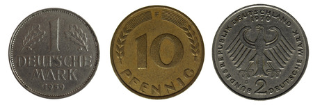 royality: old german coin Stock Photo