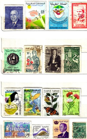 marocco: north africa, arab nation, old stamps