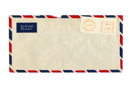 postmark: Airmail letter with UK postmark Stock Photo