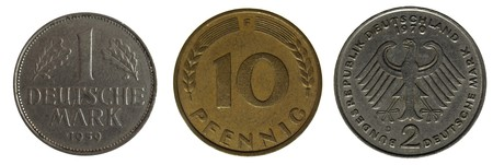 german mark: old german coin Stock Photo