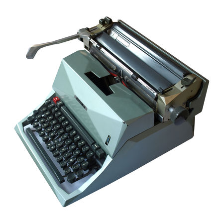 Vintage mechanical type writer isolated photo