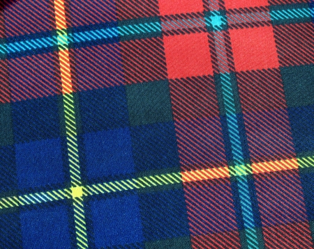 bedcover: Tartan fabric