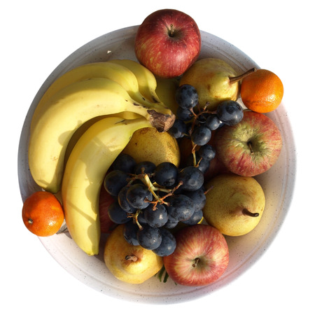 mixed nuts: plate of various fruits