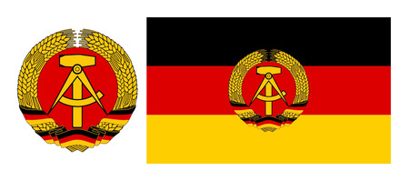 east berlin: Flag and coat of arms east Germany