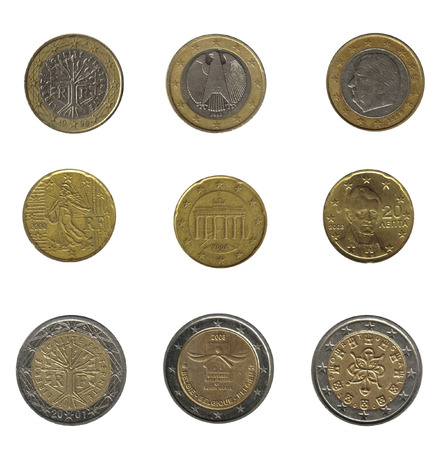 royality: euro coins isolated over white
