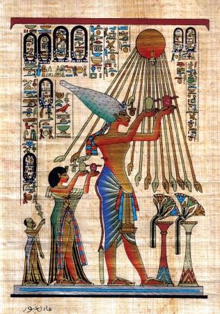 hieroglyphs: Egyptian papyrus Stock Photo